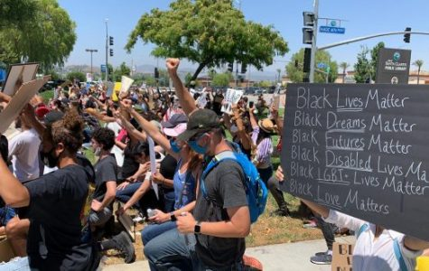 Santa Clarita activists gather to protest for the Black Lives Matter movement.