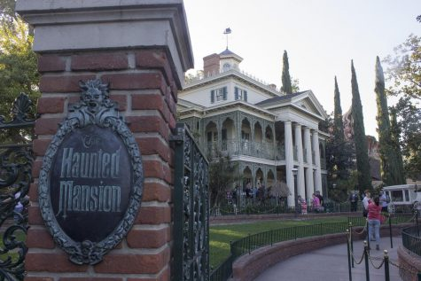 The Disneyland Haunted House entrance at Disneyland California, currently closed due to the coronavirus pandemic