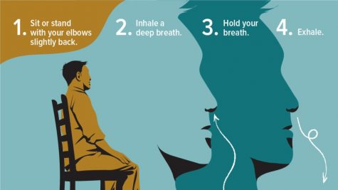 Deep breathing can help with feelings of anxiety and help to keep the mind grounded.