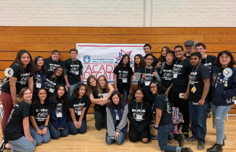 Academic Decathlon at El Rancho High School in 2020