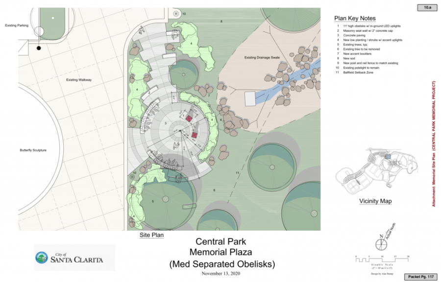 The City plans on constructing a Memorial Plaza at Central Park, seen here.