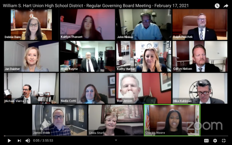 Hart Union High School District holds their regular governing board meeting