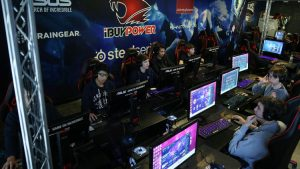 Esports team, like the upcoming on at Saugus High School, participate in tournaments like the one pictured here.