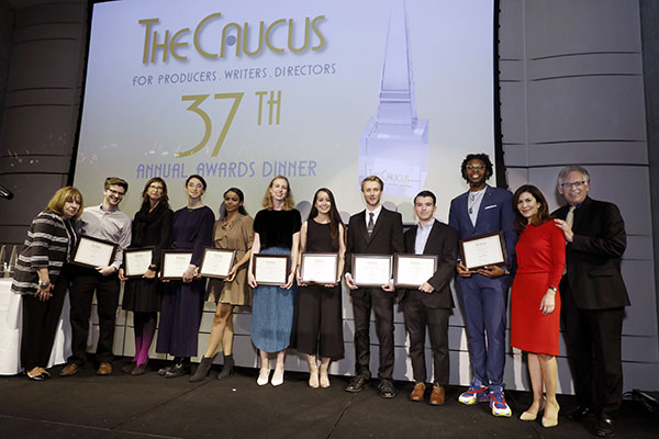 Grantees of the Caucus Foundation grant program for student film makers in 2019