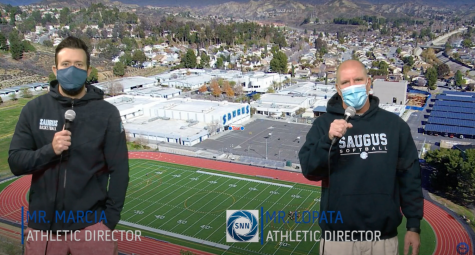 Saugus teacher and Athletic Director Brandon Marcia (left) shares how he prioritizes mental health