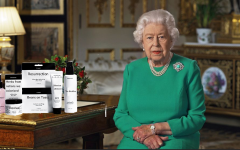 Queen Elizabeth reveals the crown's new skincare line in her address to the nation.