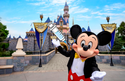 The characters of Disneyland get vaccinated as they prepare to open up the park.